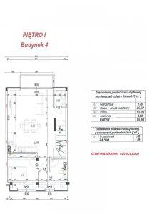 Budynek 4 lokal H plan piętro